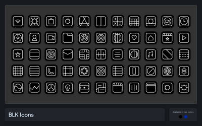 BLK Icons - An iOS Iconpack