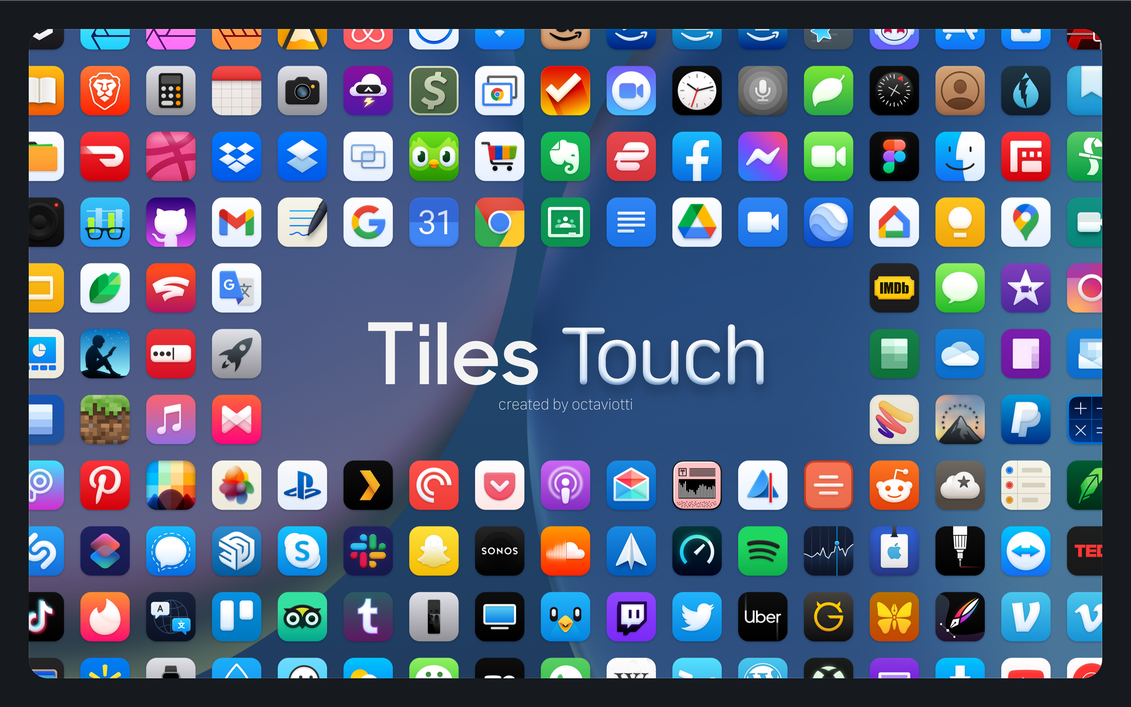Tiles Touch - An iOS Iconpack