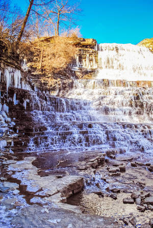 Blue Sky  Cascading Waterfalls - Albion Falls - 2 by AprilRains07