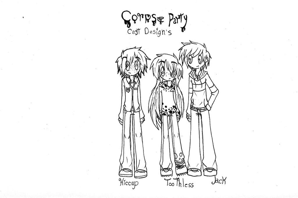 Big Four(Corpse Party AU): Cast designs 1 by strawberrybunny4341