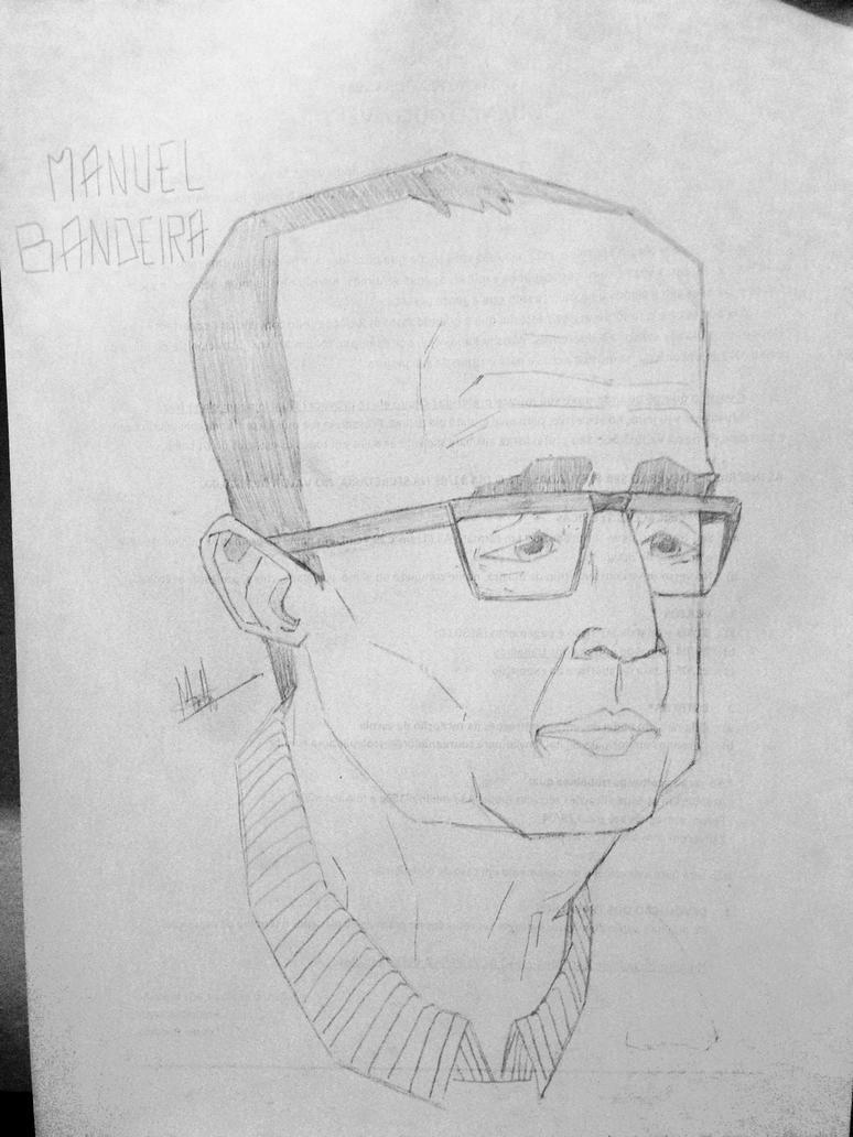 Caricature - Manuel Bandeira by Pimbirthon