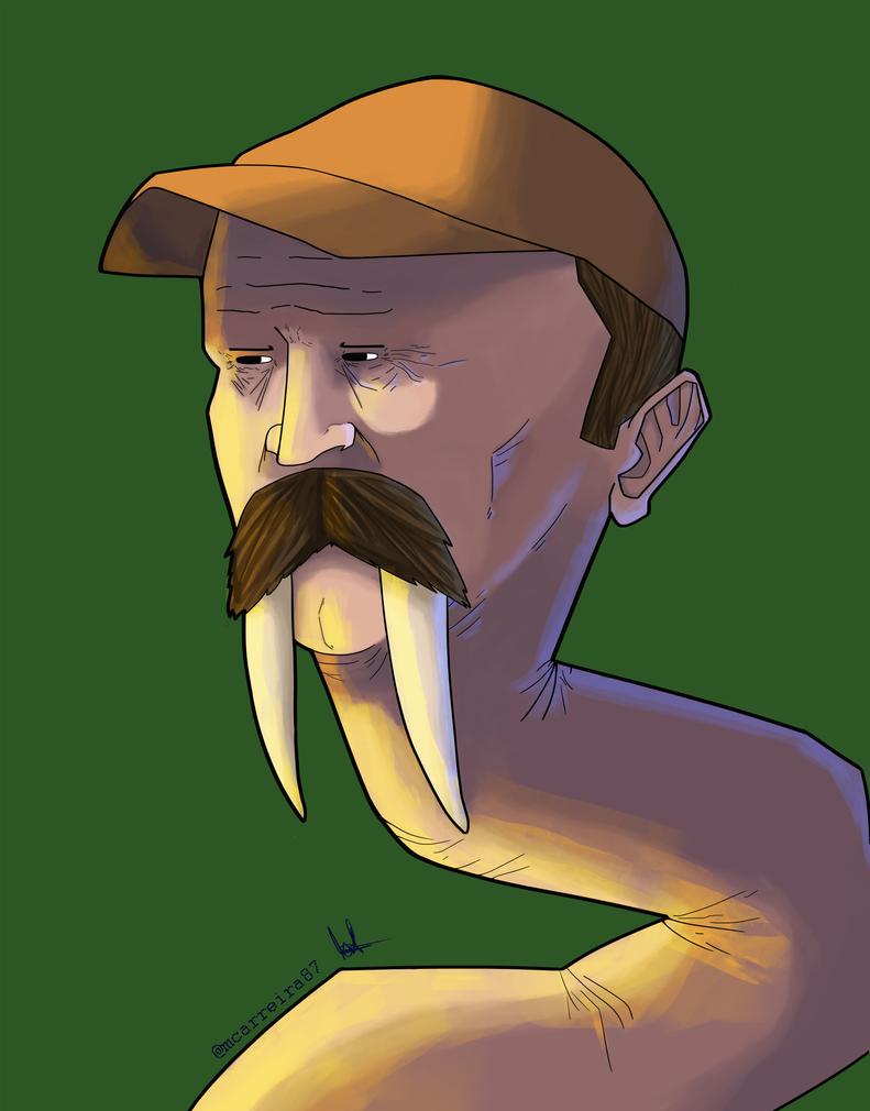 Crazy-Long Neck Guy-Walrus by Pimbirthon