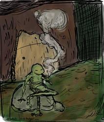 Frog Smoke by TheRailz-Art