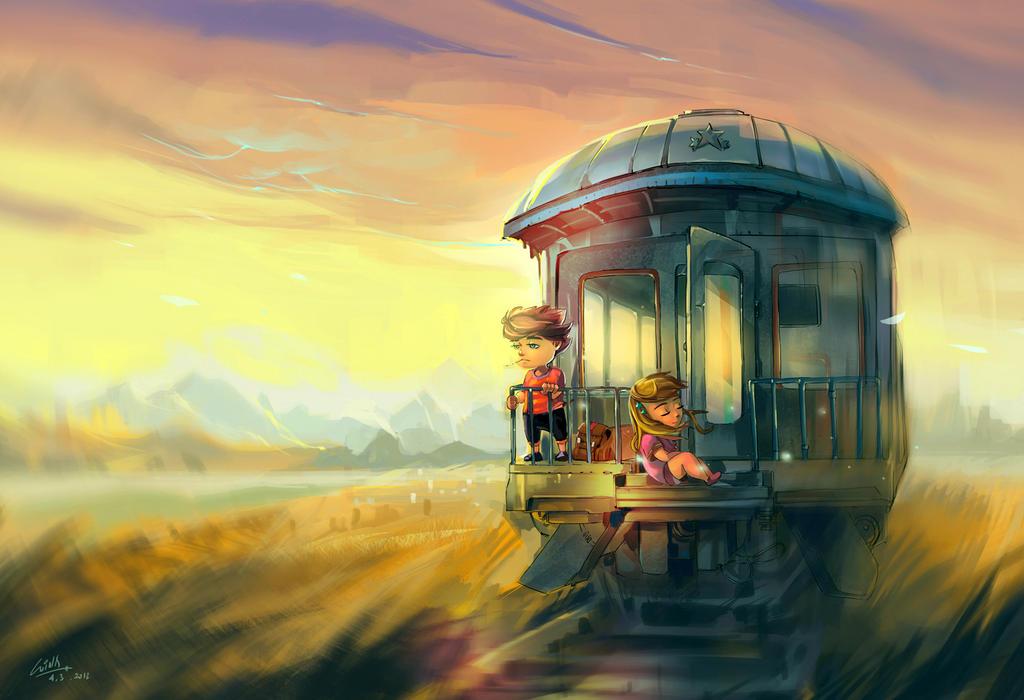 Childhood train by windboi