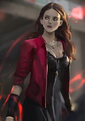 Scarlet Witch fan art by windboi