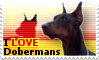 I LOVE Dobermans Stamp by TheWondrousCorvus