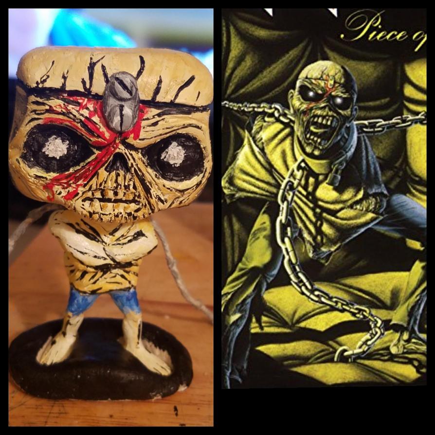 Eddie Iron Maiden Custom Funko Pop By Thesiegeman On