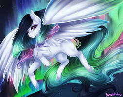 Com: Northern Lights Pony by BunnyWhiskerz