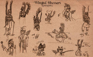 Winged hussars o3o by vanilliacoke