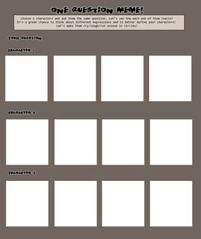 One Question Meme [blank]