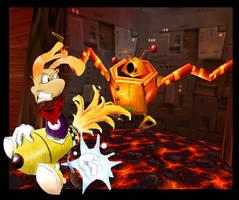 Fighting with Razorbeard by vanilliacoke