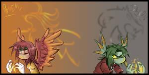 A Phoenix and a dragon