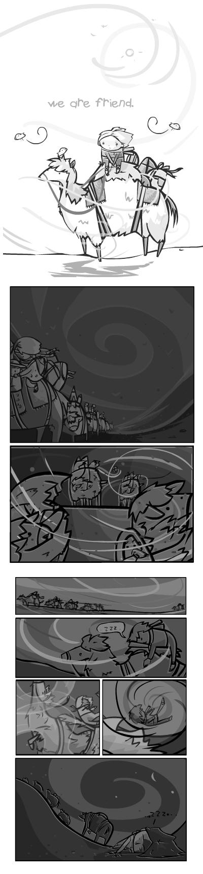we are friend : mini comic 1 by RayArray