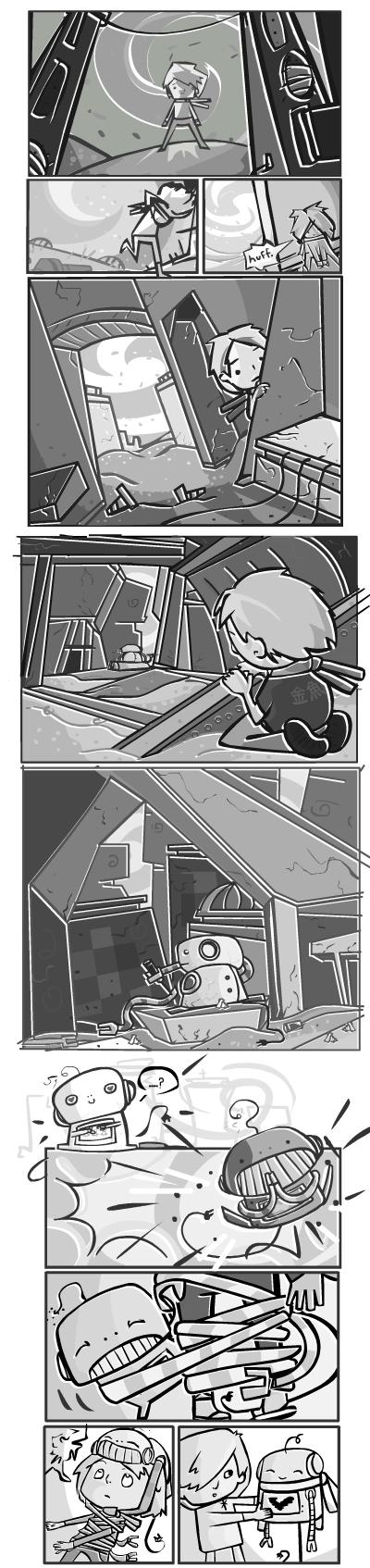 we are friend : mini comic 3 by RayArray