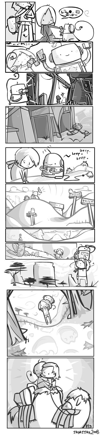 we are friend : mini comic 4 by RayArray