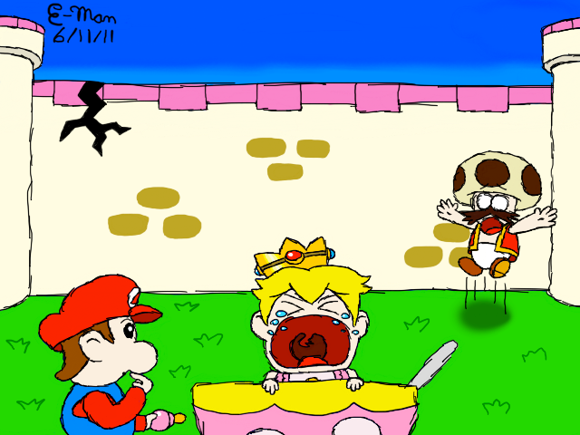 crying baby peach by eman276 on deviantart