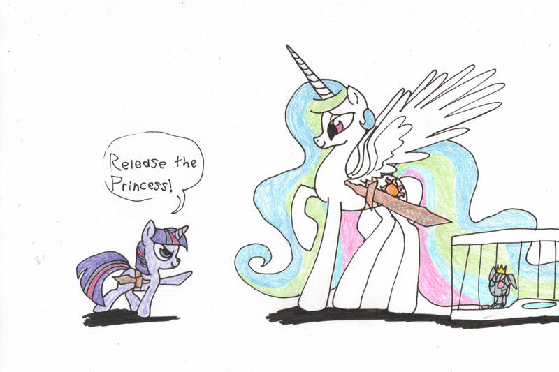 Release the princess by YoungAngelStocking