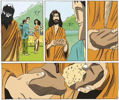 el servidor parte su pan