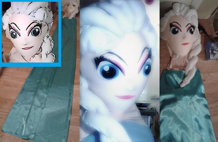 Elsa Frozen (ms) dress making. by Specialwater7