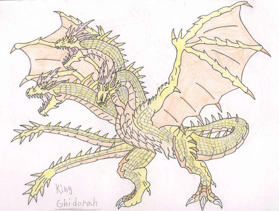 Godzilla GX - King Ghidorah by Almaster09 on DeviantArt