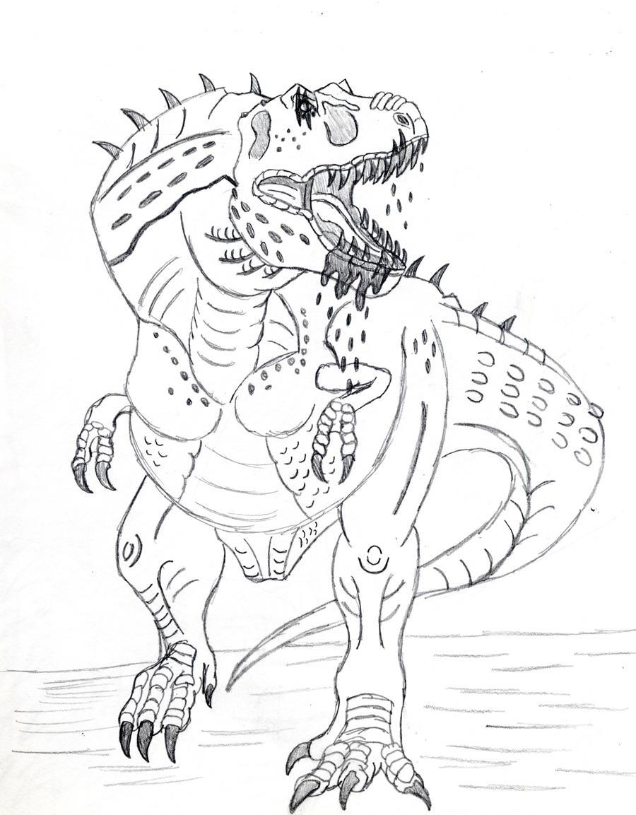 t rex sketch by almaster09 on deviantart