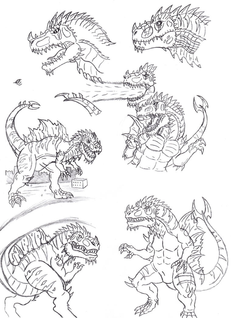 Tyrannogonos Sketches 01 by Almaster09