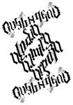 Ambigram Alodia