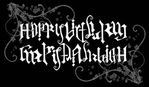 Birthday Ambigram
