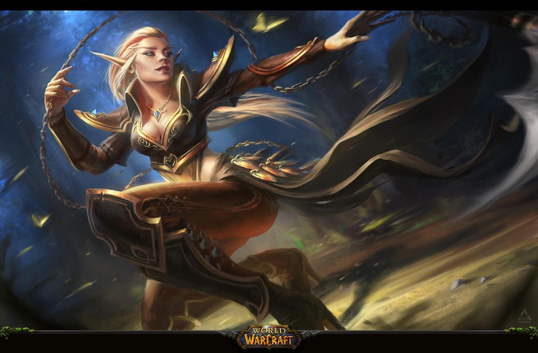 Blood elf Asassin (WOW fan-art) by YENIN