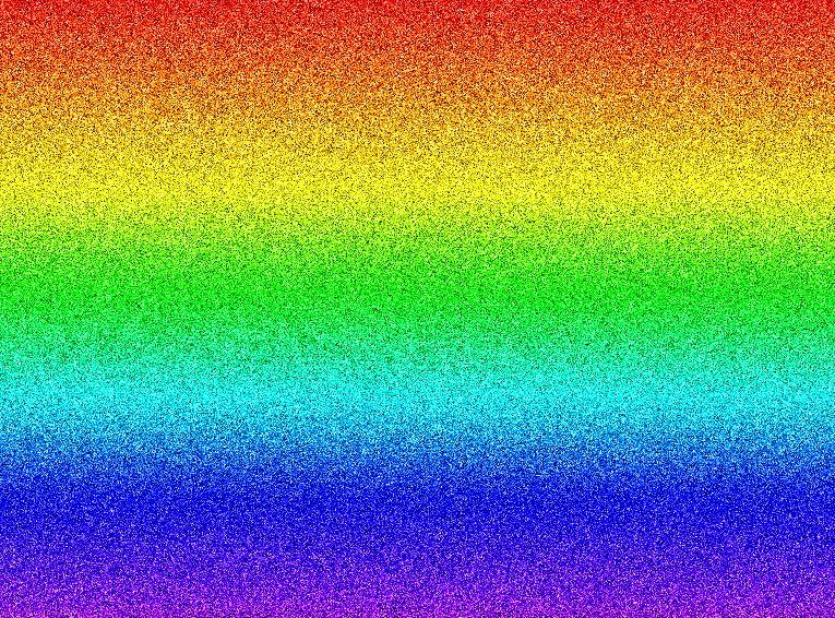 Rainbow Glitter Shadow Pattern