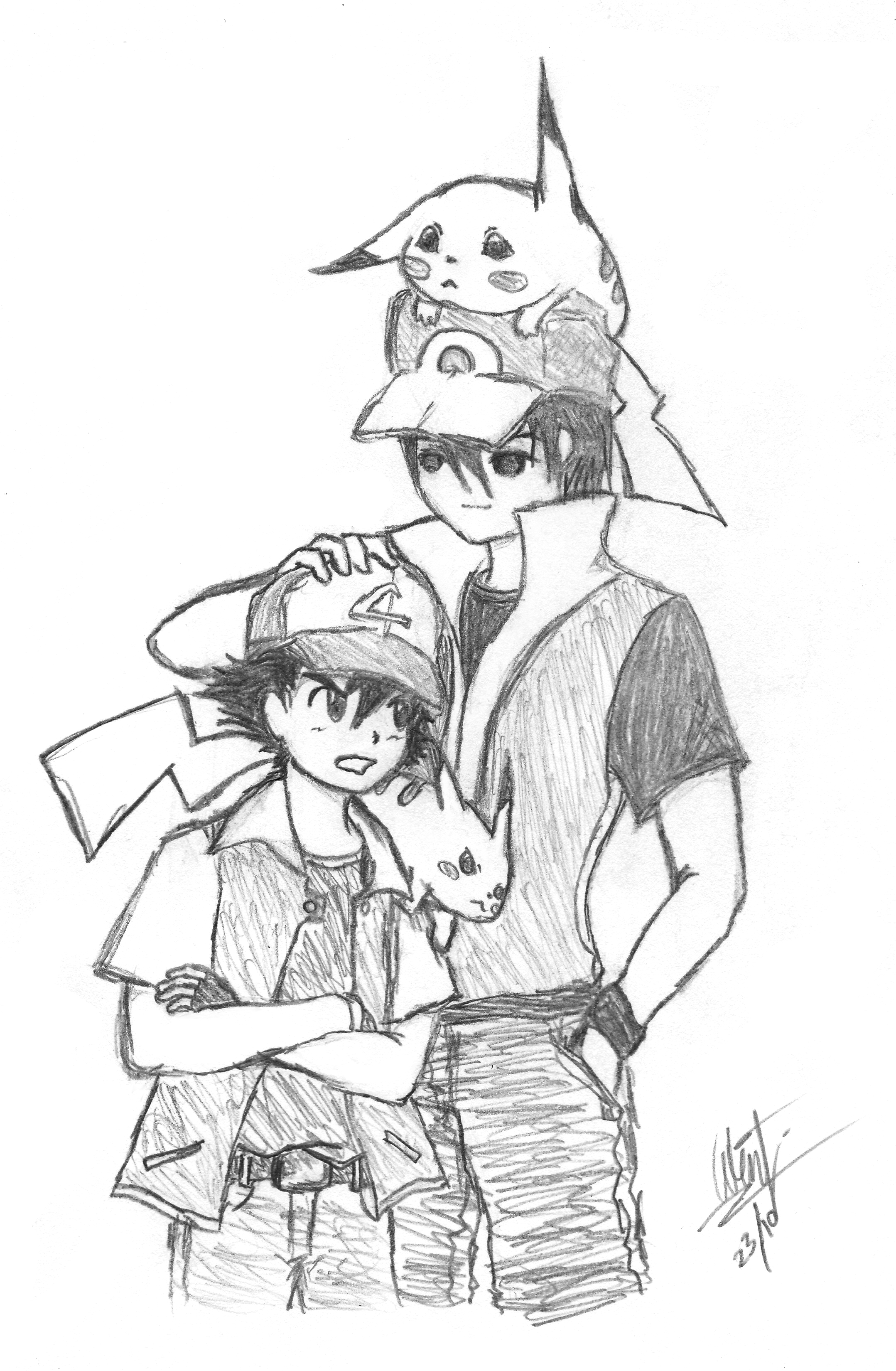 red meets ash by genericwin on deviantart