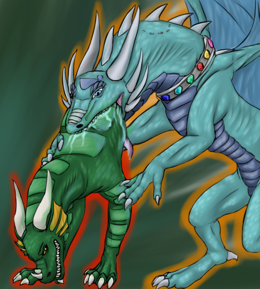 Greenwing Vore Commission by Kieruu-Dragon on DeviantArt
