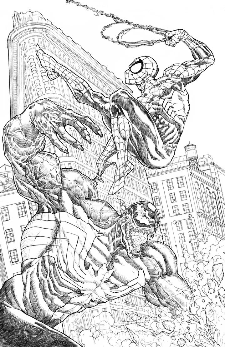 spiderman 3 venom coloring pages - photo#36