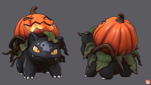 3D Fanart - Halloween Ivysaur