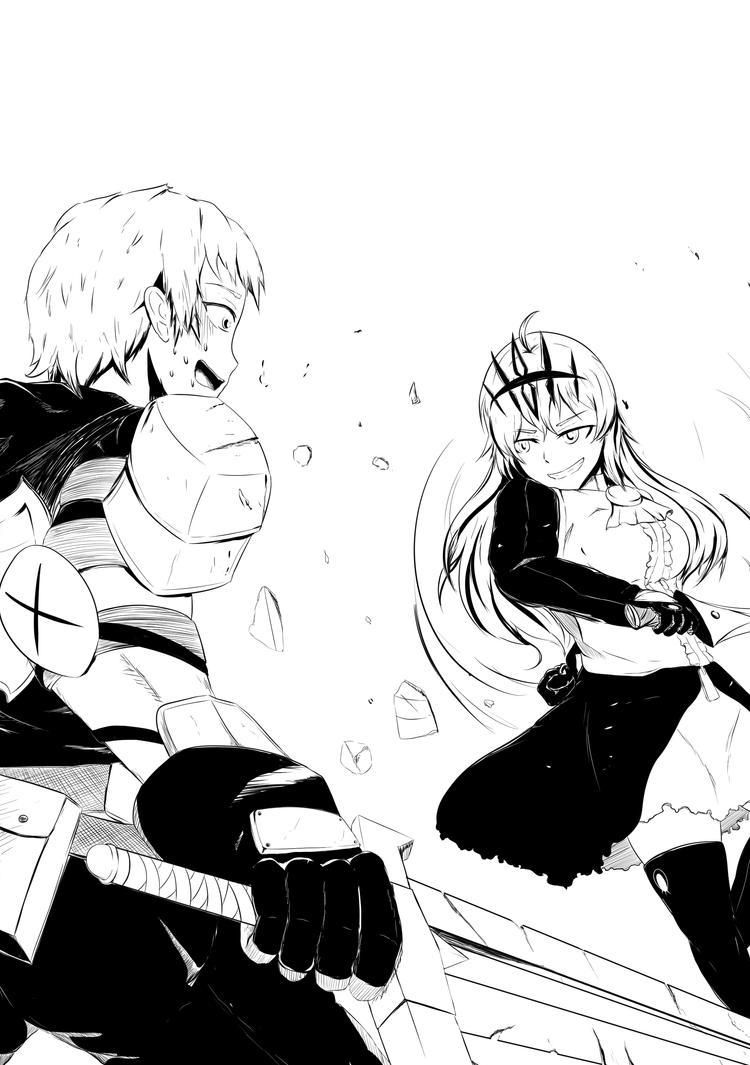 [BRSxRWBY] Jaune v. Chariot by AikiYun