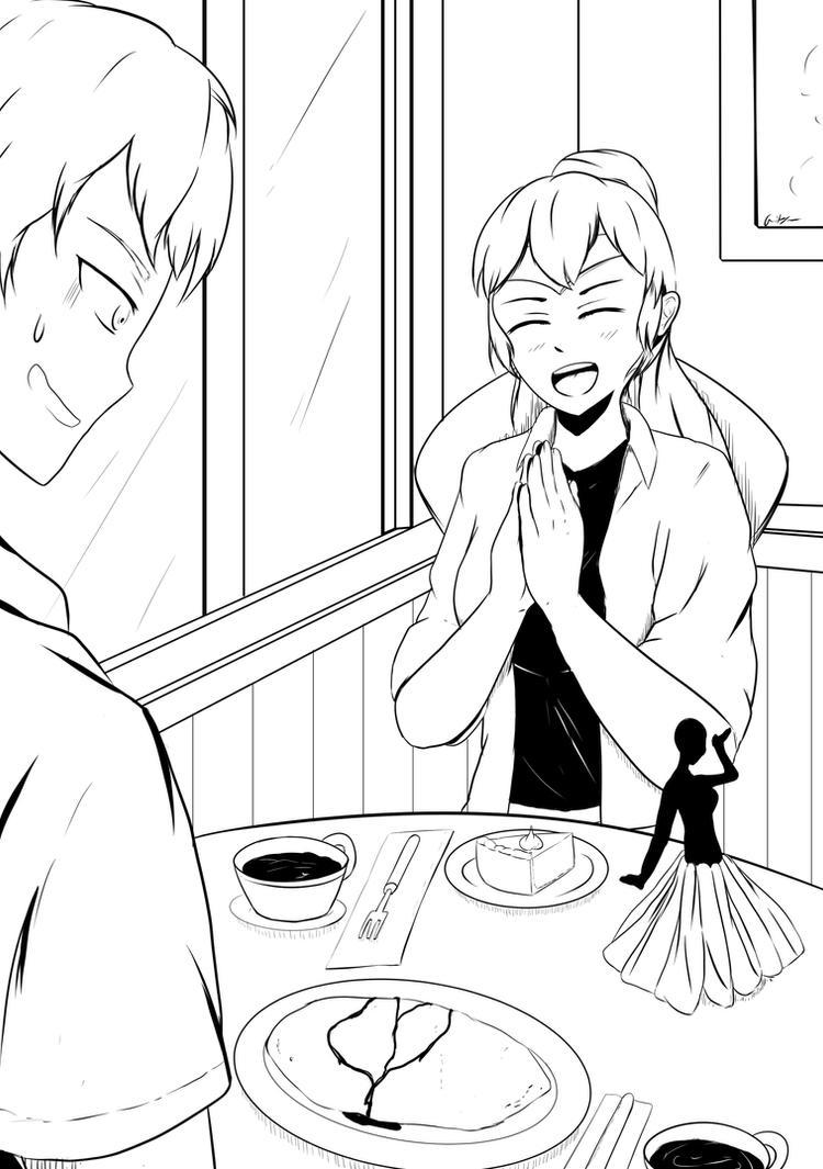 [RWBY] Cafe Date by AikiYun