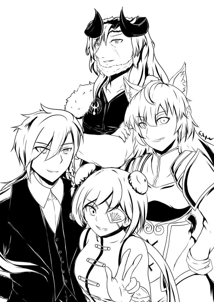 [RWBY OC] Team MRLO by AikiYun