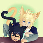 Mika n Yuu - Kitties by ILuvJesse