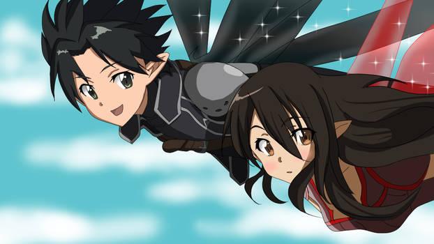Kirito and Yukata OC - Alfheim Online (ALO)