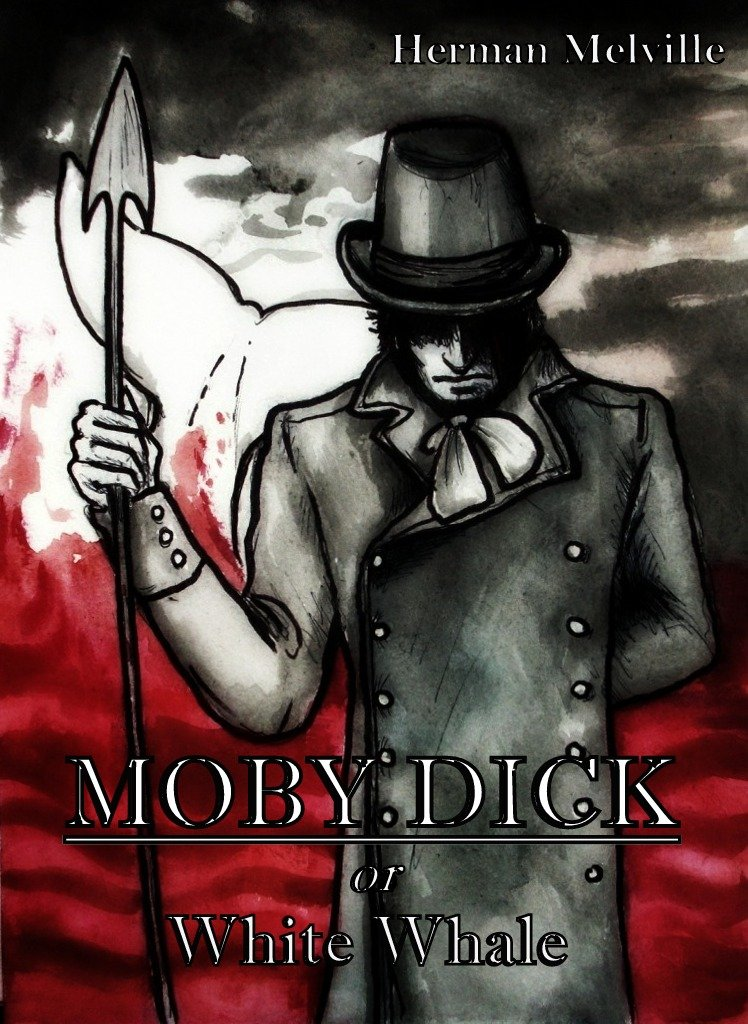 ,,Moby Dick'' by H. Melville - my cover design by elicenia