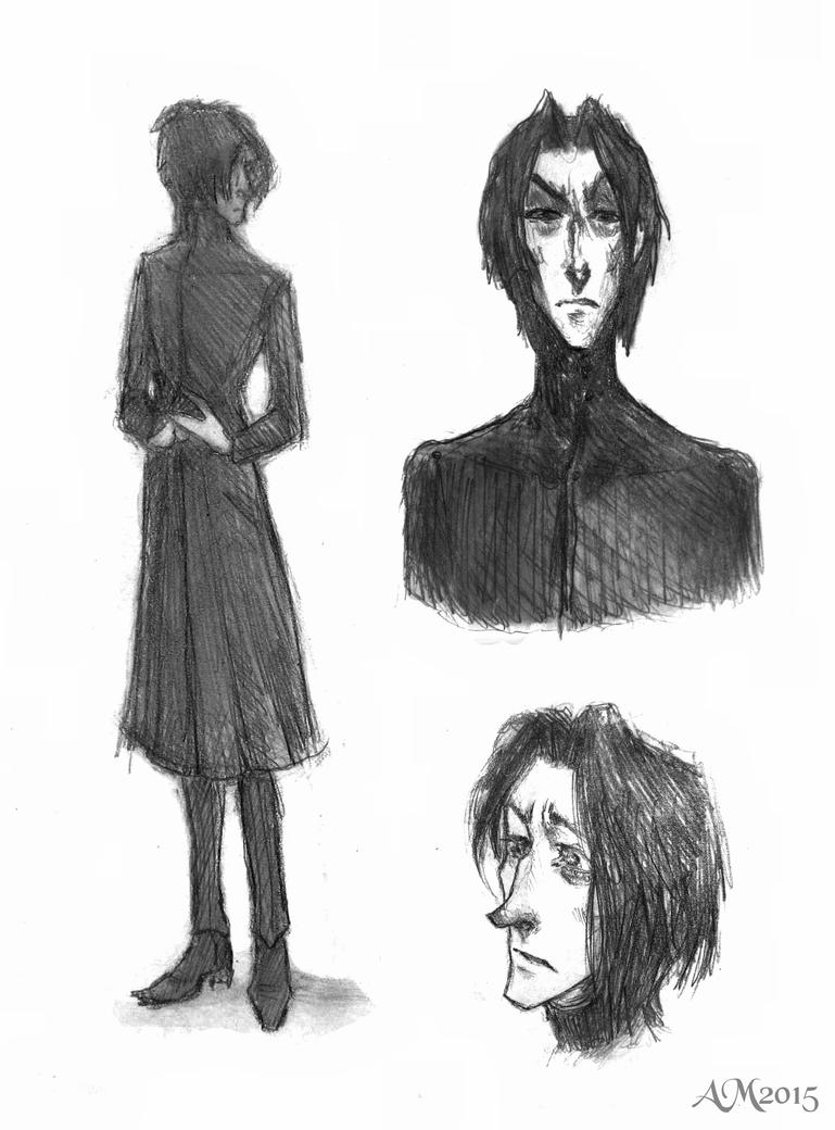 Severus Snape sketches by elicenia