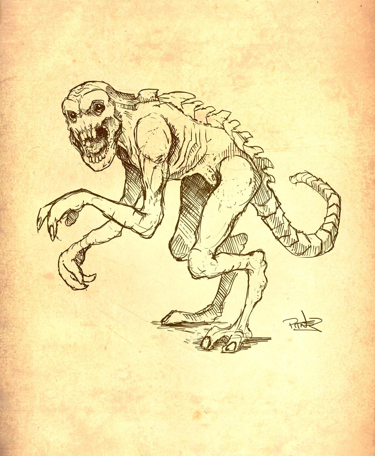 Ratfiend thing sketch by pitnerd
