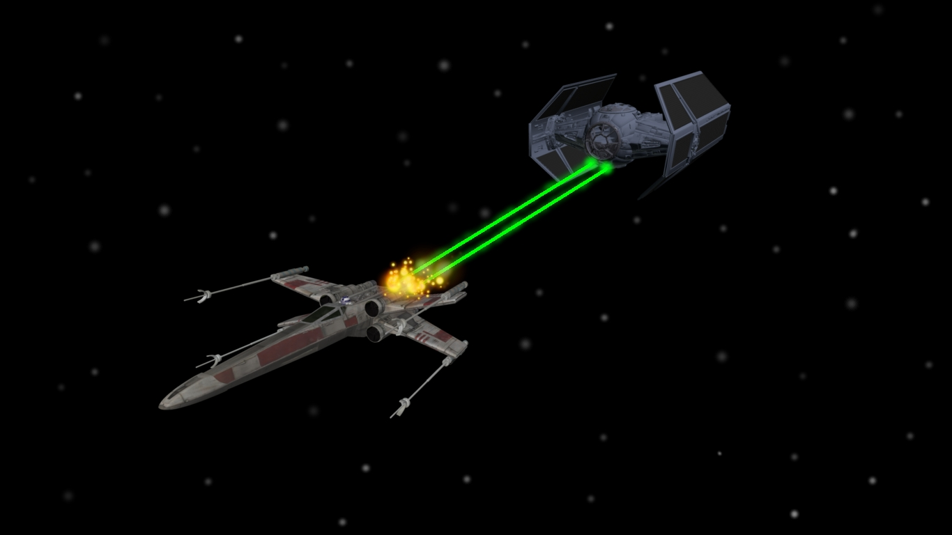 wing vs tie fighter by enterprisedavidX Wing Vs Tie Fighter