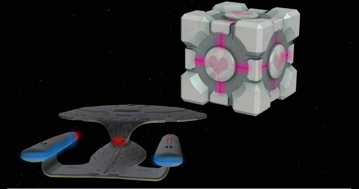thats not a borg cube by enterprisedavid