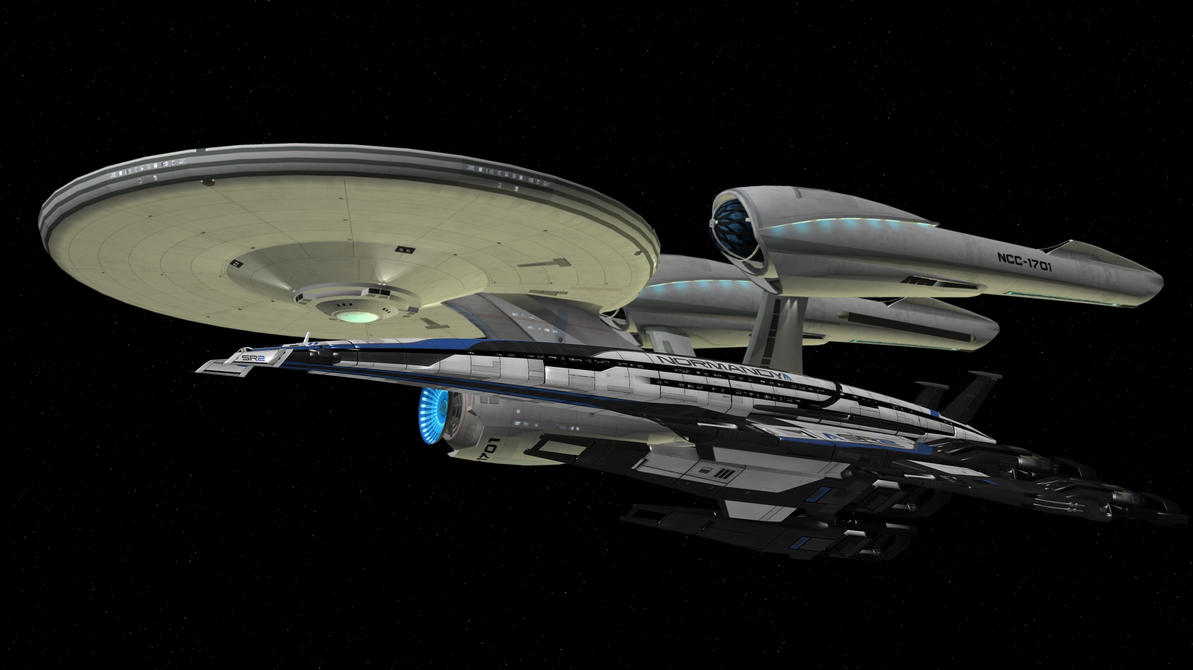USS Enterprise and SSV Normandy by enterprisedavid