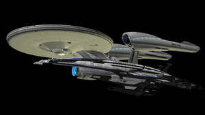 USS Enterprise and SSV Normandy