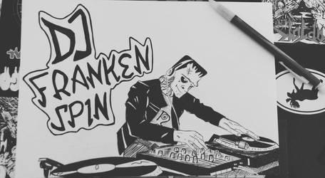 DJ FRANKENSPIN by DeathRipperArt