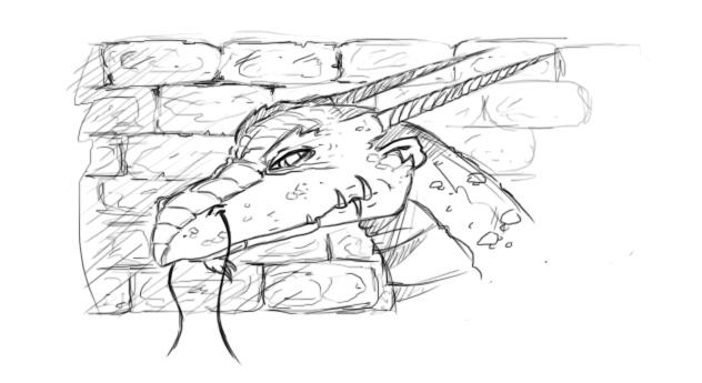 Dragon Sketch by bellchaser