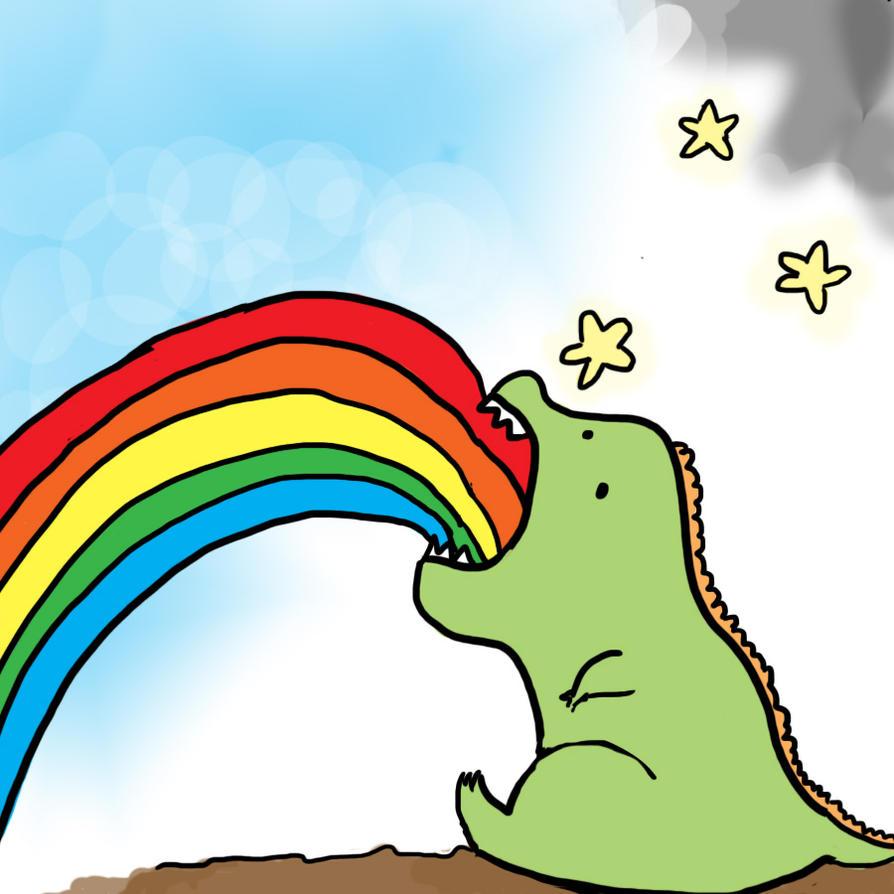 http://th06.deviantart.net/fs70/PRE/f/2010/202/6/a/Dinosaur_Puking_Rainbows_by_emilybis8.jpg