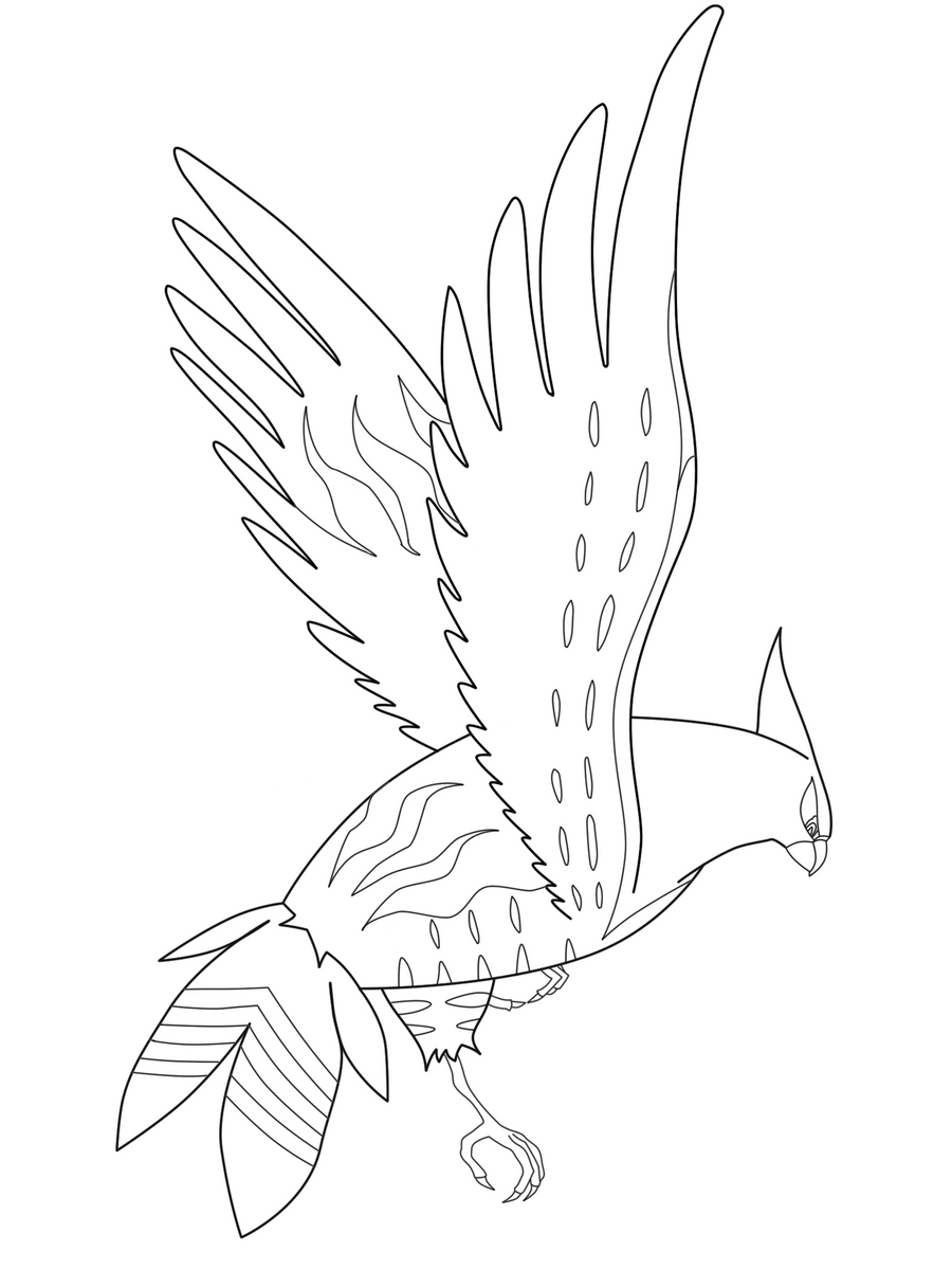 talonflame lineart by ackkerman on deviantart